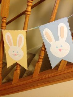 DIY Easter Bunny Banner  | More here: http://mylusciouslife.com/luscious-loves-easter-eggs-pictures/