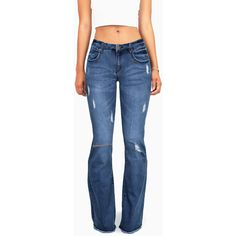 Mid-rise jeans with a slim fit throughout with a slight flared bottom with  a frayed edge. Traditional jeans with button and zip fly closure. a8f9182e67