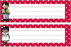 FREE polka dot desk strips for back to school. Classroom Freebies, School Classroom, School Fun, Back To School, School Stuff, School Ideas, Classroom Ideas, Classroom Organisation, School Organization