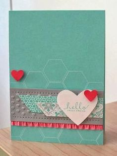 Hello Sweet Friend card using the Stampin' Up Hexagon ... | cards by Subjects Chosen at Random