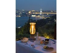 Trendy Ulus 29 café and restaurant - great food and beautiful view over the Bosphorus, Istanbul.