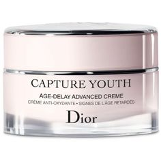 Dior  Capture Youth Age-Delay Advanced Creme ($95) ❤ liked on Polyvore featuring beauty products, skincare, face care, christian dior, christian dior skincare and christian dior skin care