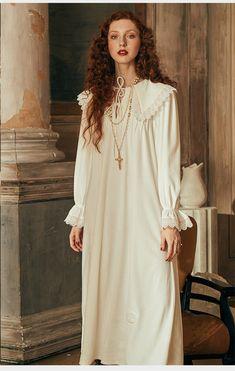 630f41a37019 Camicia Da Notte di inverno Delle Donne a maniche lunghe Indumenti Da Notte  Delle Signore Queen