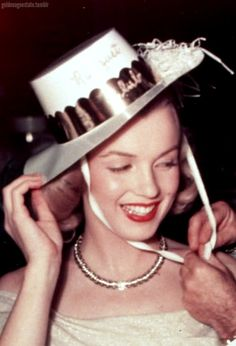 Marilyn Monroe - New Year's Eve 1949 - at the Palm Springs Racquet Club, where she was with her agent and lover Johnny Hyde