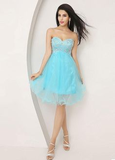 Blue Short Homecoming Dress