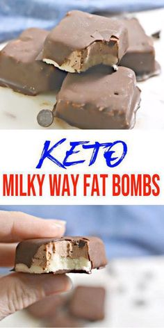 Keto fat bombs you wont be able to pass up! {Easy} low carb keto fat bomb recipe for the best Milky Way Candy bar Chocolate fat bombs. Perfect for ketogenic diet w/ keto friendly ingredients. Bon Dessert, Dessert Aux Fruits, Milky Way Dessert, Quick Keto Dessert, Ketogenic Diet, Ketogenic Recipes, Dukan Diet, Paleo Diet, Keto Fat