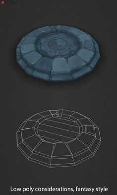 Low Poly Plinth Add a professional touch to your game project with this low poly, hand painted dungeon floor plinth. You should find this items easy to paint over, reshape and alter as needed or it can just be used as is. Modelos Low Poly, Modelos 3d, Bg Design, Game Design, Zbrush, Polygon Modeling, Low Poly Games, Game Textures, Hand Painted Textures