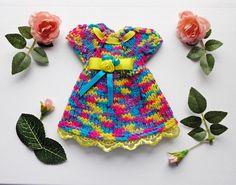 Doll dress knitting dress clothes for Waldorf dolls /