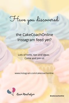 If you haven't found us yet - come on over to Instagram and follow us. We are sharing lots of hints and tips along the way. So useful for our cake decorating community who are selling (or thinking of selling) their cakes. Why not save this pin to your Cake Tips board too?