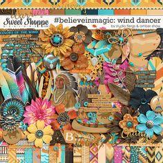 Pocahontas inspired digital scrapbooking #believeinmagic: Wind Dancer by Amber Shaw & Studio Flergs