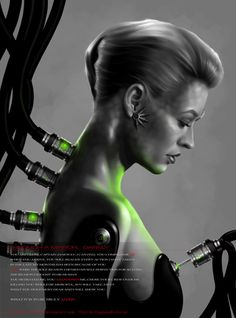 Star Trek Voyager - Mirror Seven of Nine (Jeri Ryan) Art Work by G672 on deviantART.