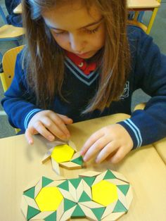 Tessellations in Year 4: Doodling with shapes.
