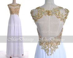 White Lace Prom Dresses 2014 Prom Gown Straps with by MissDressesy, $169.00