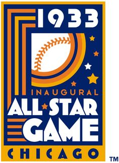 MLB All-Star Game Primary Logo (1933) - 1933 MLB All-Star Game at Comiskey Park in Chicago, Illinois