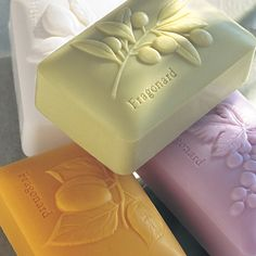 Fragonard Olive Oil soaps leave the skin silky soft and smell divine - Soap Diy Savon, Savon Soap, Olive Oil Soap, Olive Oils, Soap Shop, Soap Packaging, Soap Recipes, Home Made Soap, Handmade Soaps