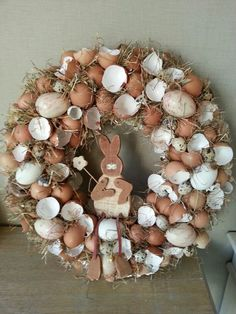 Paaskrans Easter Wreaths, Christmas Wreaths, Christmas Decorations, Holiday Decor, Easter Party, Easter Crafts, Diy Crafts, Dreams, Crafty