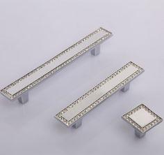Silver Glass Dresser Pulls Knobs Drawer Pulls Handles Knobs Crystal Cabinet Door Handles Pulls Rhinestone Square Furniture Knob Bling Modern by MINIHAPPYLV on Etsy https://www.etsy.com/listing/243199455/silver-glass-dresser-pulls-knobs-drawer