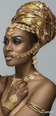Africa - Supplement for their headwrap to add height Black Women Art, Beautiful Black Women, Black Girls, Beautiful People, African Beauty, African Women, African Fashion, African Goddess, Black Royalty