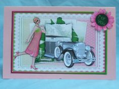 Green and Pink Flapper Birthday on Craftsuprint designed by Vicki Avcin - made by Susan Smith - With this design I first printed it out onto photo paper, then after cutting out all the elements, I placed the main design base onto the front of a pink card, I then made up the design, this I did using 2mm sticky pads, this is a beautiful design which was very easy to cut and make up and is stunning once done. - Now available for download!