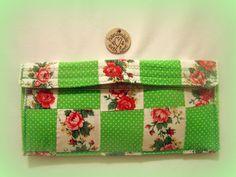Fabric Makeup Bag/Cosmetic Bag/Travel Bag/Roses by bagsbyhags45, $7.00