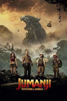 Jack Black, Kevin Hart, Dwayne Johnson, and Karen Gillan in Jumanji: Welcome to the Jungle Great Movies, New Movies, Movies To Watch, 2018 Movies, Popular Movies, Latest Movies, Movies Free, Jack Black, Jurassic World