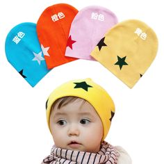 New Unisex Baby Boy Girl Toddler Infant Children Cotton Soft Cute Hat Cap Winter  Geometric Star Hats Baby Beanies Accessories