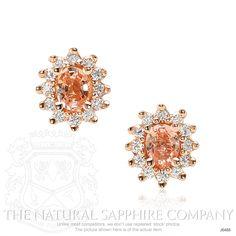 0.24ct Padparadscha (Pinkish-Orange / Orangish-Pink) Sapphire Earring Image