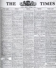 The Times newspaper changes to Times New Roman font, 3 October 1932.