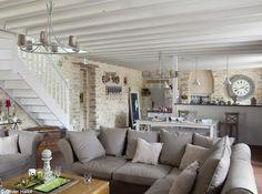 Wohnzimmer Ideen Design Wandgestaltung Natursteinwand