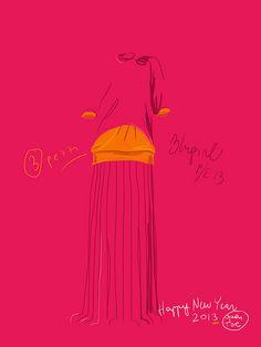 illustration Open Toe. Silvana Mariani