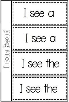 Basic Structures flippy book from I can Read Emergent Center Activities - School Themed BUNDLE Kindergarten Language Arts, Kindergarten Literacy, Word Work Activities, Literacy Activities, Sight Word Practice, Sight Words, Teaching Reading, Guided Reading, Kids Reading