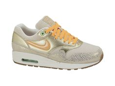 64a48f0d458 Nike Air Max 1 Premium Womens in Birch Bright Citrus Metallic Gold Sail