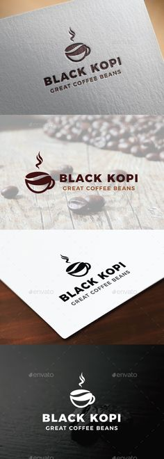 Coffee Logo: Food Logo Design Template by Anut_Bigger. Coffee Shop Branding, Coffee Shop Logo, Coffee Packaging, Cafe Logo, Coffee Icon, Coffee Cafe, Logo Design, Coffee Drawing, Coffee And Books