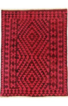 Rugs USA Overdye Ranga Kilim Orange Red Rug