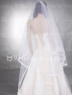 Lace Edged Waltz Bridal Veil VE09