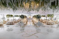 Overview look of this incredible epic wedding from its hanging floral centerpieces and elegant draping to the custom dance floor and all white lounge vignette. Dance Floor Wedding, Tent Wedding, Budget Wedding, Diy Wedding, Wedding Reception, Wedding Planning, Dream Wedding, Wedding Ideas, Wedding Wows