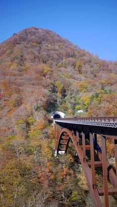 Here is a cool looking bridge heading into the side of a mountain.