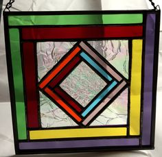 Stained Glass Panel  Contemporary Colorful by PeaceLuvGlass