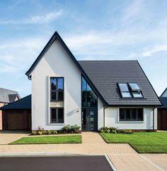 House Cladding, Exterior Cladding, Facade House, Building Design, Building A House, Gable Roof Design, House Extension Design, House Front, Modern House Design