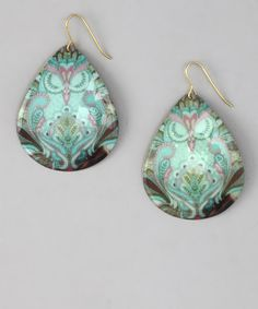 Look what I found on #zulily! ZAD Turquoise Sleeping Owl Teardrop Earrings by ZAD #zulilyfinds