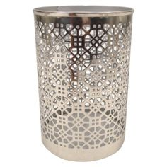 """Metal Lattice Hurricane Candle Holder 4x6"""" for table behind the sofa"""