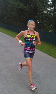 Hummingbirds in magical colors on in a tri suit! Who wouldn't swim, bike, and run better in this tri kit?!