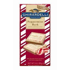 Limited Edition Peppermint Bark Chocolate Bar by Ghirardelli