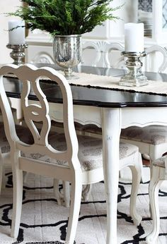Attractive Dining Room Table Makeover Design