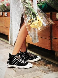 Polka Dot Hi Top Chucks