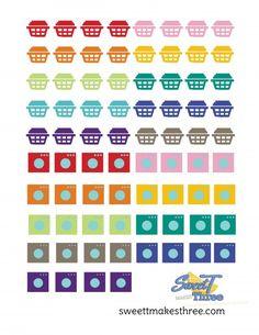 Printable laundry planner stickers for Erin Condren Life Planner.