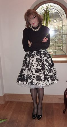 https://flic.kr/p/a7f88F | print skirt | new skirt with a petticoat , this feels so nice