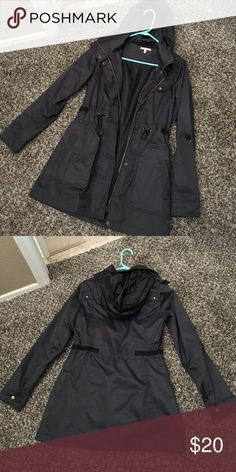 Charlotte Russe hooded jacket Used one time. Very nice, heavy coat! It's very well made. Charlotte Russe Jackets & Coats