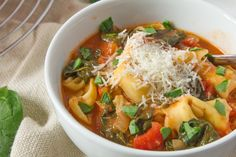 Make and share this Tortellini Tomato Spinach Soup recipe from Food.com.