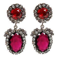 Jewel tones - Kenneth Jay Lane Earrings